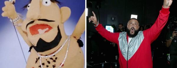 O personagem representando DJ Khaled no clipe de Nicki Minaj (Foto: Getty Images/Reprodução)
