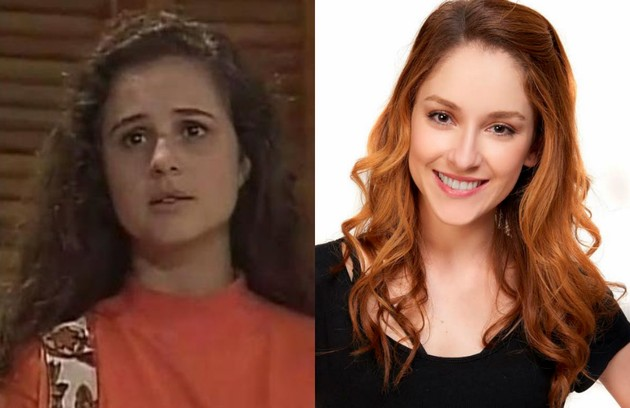 Lena é a filha mais velha de Carmem (Joana Fomm). Na TV, foi vivida por Daniela Camargo. No espetáculo de teatro, será interpretada por Gabriela Di Grecco (Foto: Divulgação e reprodução)