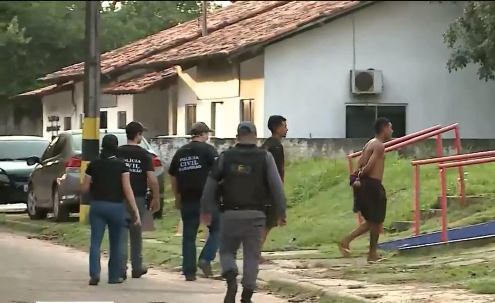 Polícia prende oito suspeitos de integrarem facção criminosa em São Luís. — Foto: Reprodução/TV Mirante.