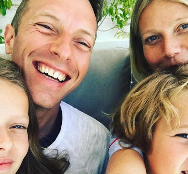Chris Martin e Gwyneth Paltrow com os filhos (Foto: Instagram)