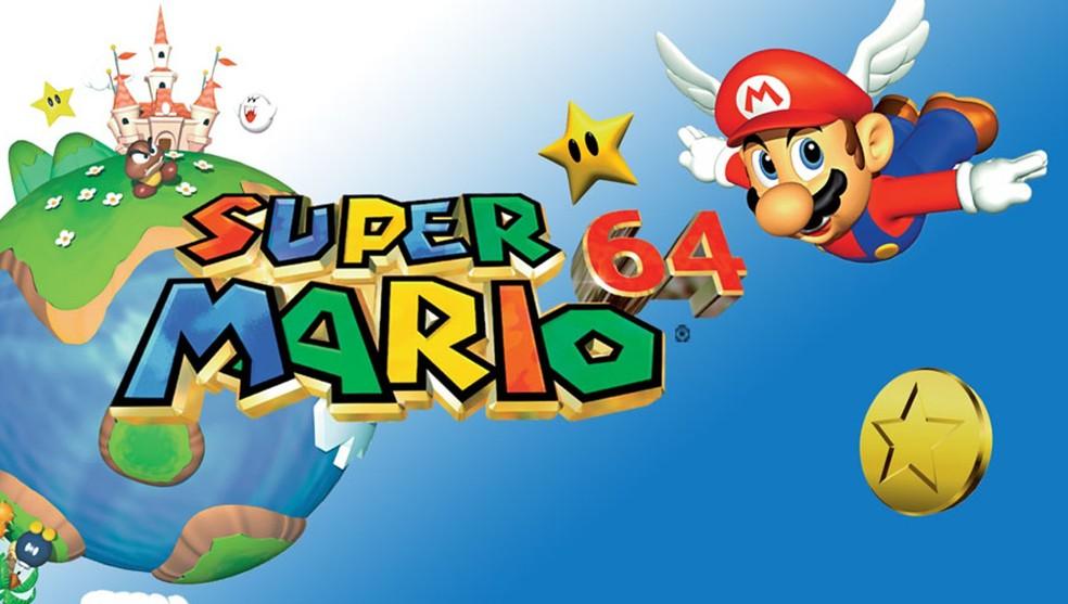 """Super Mario 64 lacrado e considerado """"novo"""" é o jogo mais caro da história em leilão — Foto: Divulgação/Nintendo"""