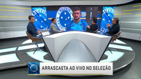 Arrascaeta conversa com o Seleção SporTV
