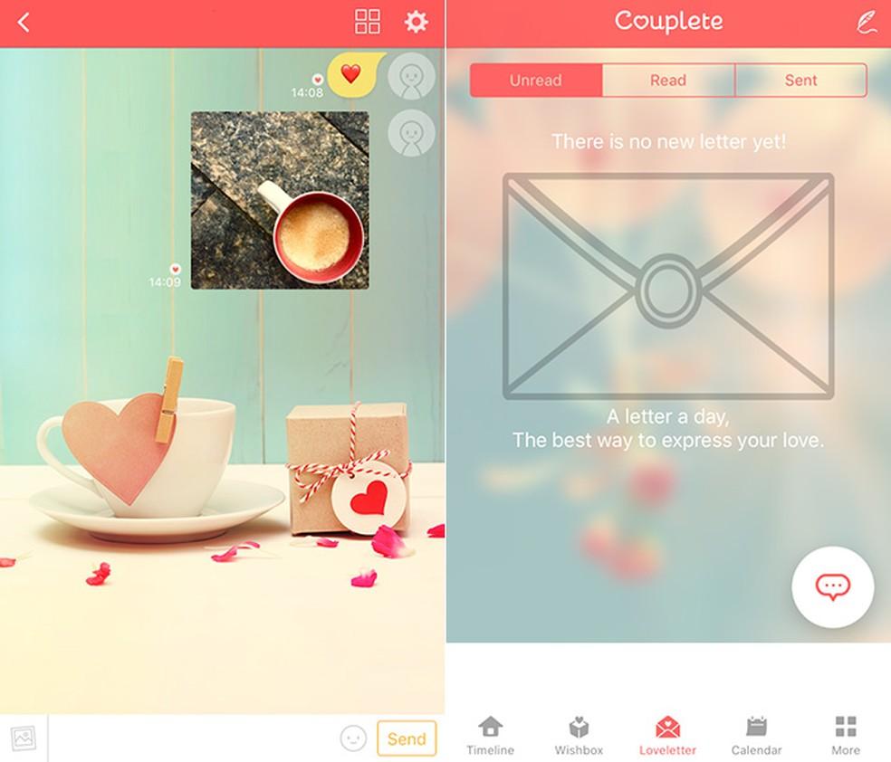 Couplete tem uma seção dedicada à troca de cartas de amor — Foto: Reprodução/Amanda de Almeida