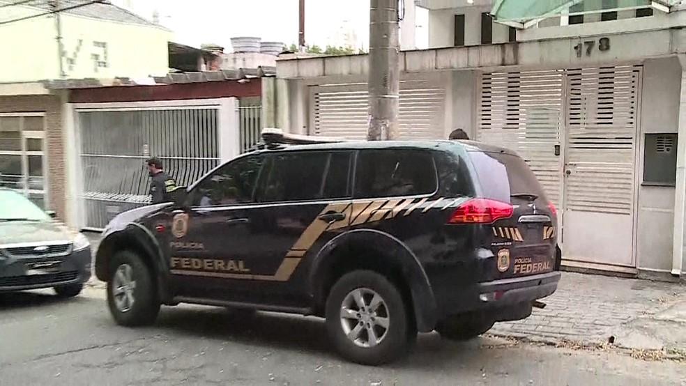 PF cumpre mandados de prisão em operação (Foto: Reprodução/TV Globo)
