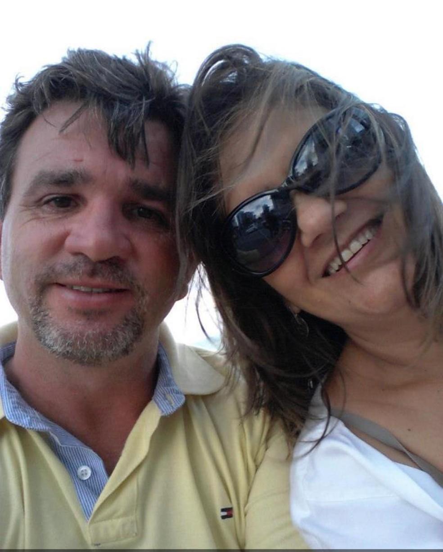 Giovanni em foto com Cidinha: ele foi condenado por matar a esposa em São José dos Campos  — Foto: Arquivo pessoal