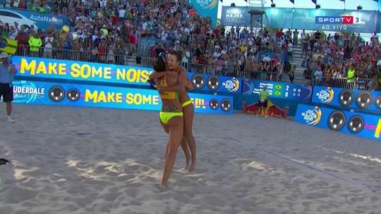 Pontos finais de Barbara/Fernanda 2 x 0 Taiana/Carol do Circuito Mundial de Vôlei de Praia