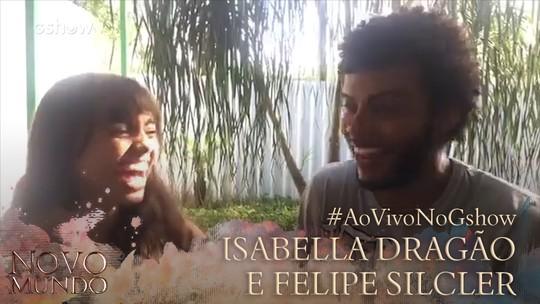 Felipe Silcler e Isabella Dragão dão 'spoiler' de 'Novo Mundo' em vídeo