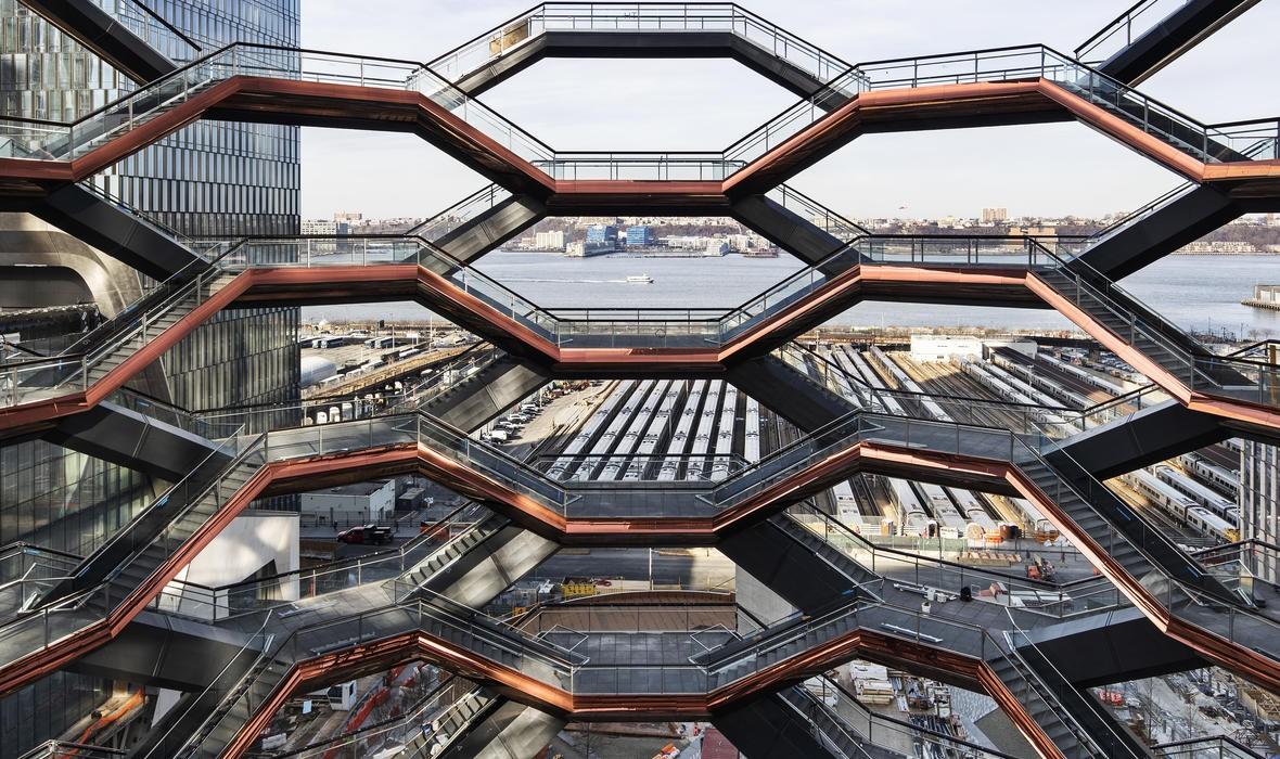 Vessel: arca gigantesca conta com 154 lances de escada e 2.500 degraus; assinada pelo designer britânico Thomas Heartherwick  (Foto: Foto: Divulgação)