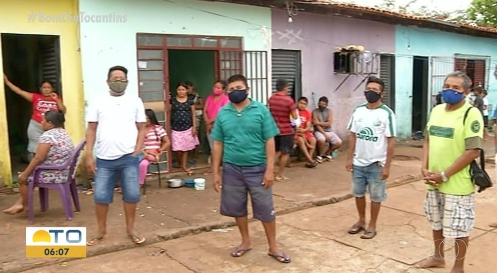 Justiça determina que famílias venezuelanas sejam realocadas para um espaço mais seguro em Araguaína— Foto: Reprodução