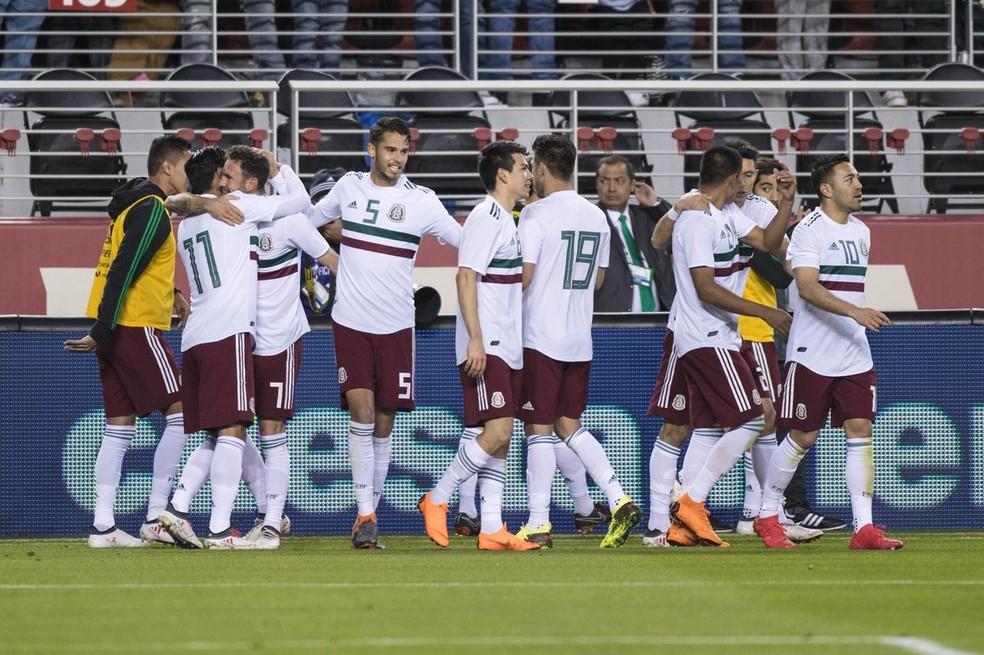 México conquistou bota vitória diante daIslândia nos Estados Unidos (Foto: Divulgação/México)