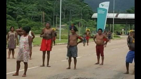Índios desocupam entrada do projeto Onça Puma, em Ourilândia do Norte