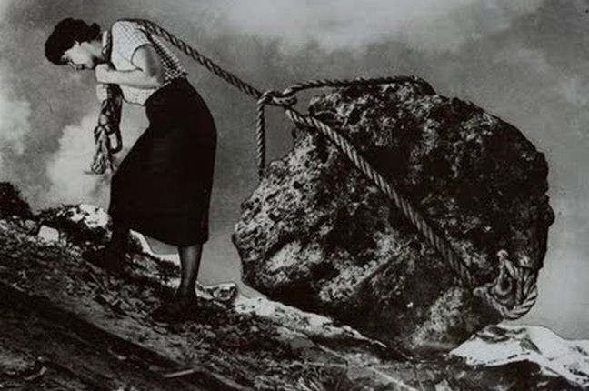 Pedra, montanha, trabalho, peso, sacrifício (Foto: Arquivo Google)