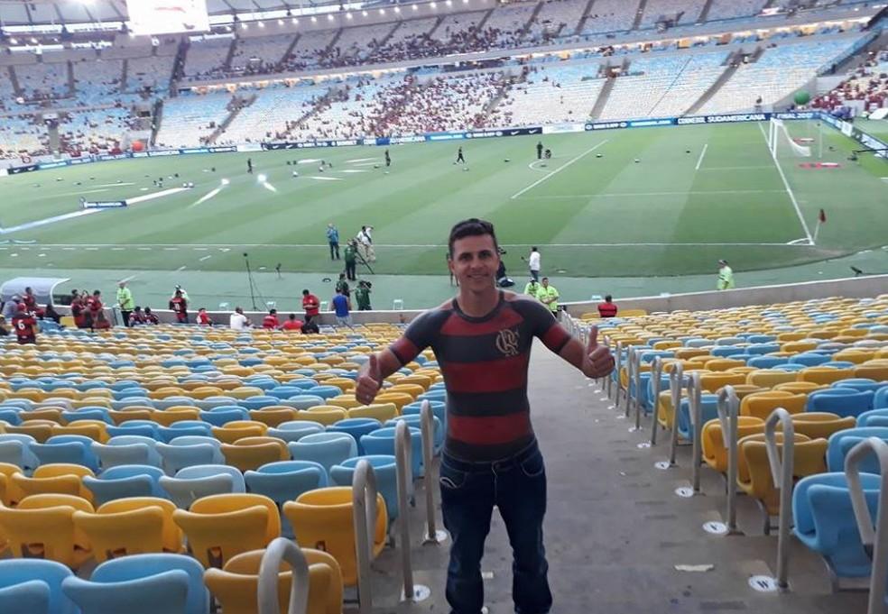 José Augusto esteve no Maracanã pela primeira vez em dezembro (Foto: José Maurício Dos Anjos/Arquivo Pessoal)