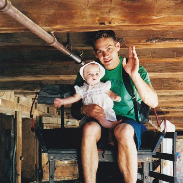 Meadow e o pai, o ator Paul Walker (Foto: Instagram)