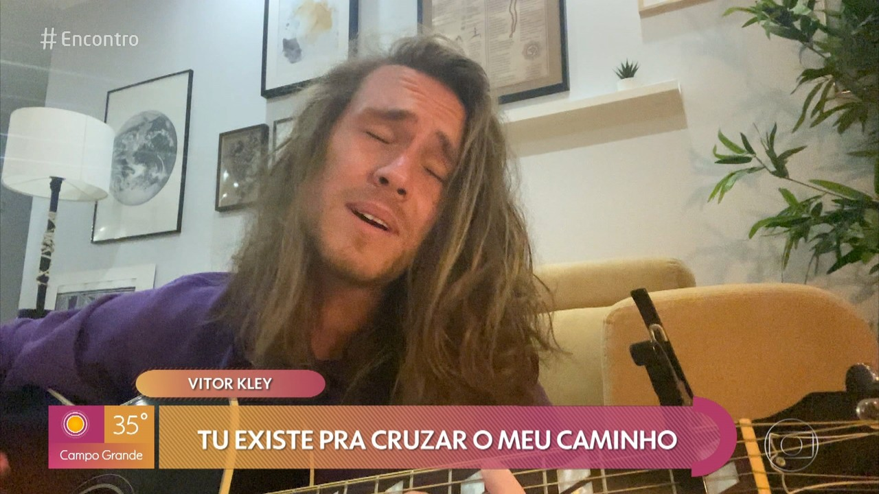 Vitor Kley grava música exclusivamente para o 'Encontro'