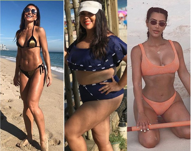 Sabrina Sato, Fabiana Karla e Kim Kardashian (Foto: Reprodução / Instagram)