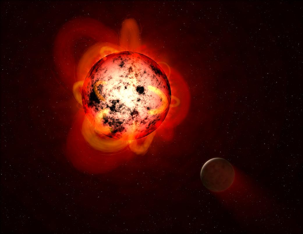 Concepção artística de uma Anã Vermelha. (Foto: NASA)