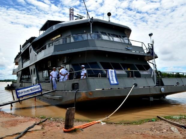 Navio hospitalar vai oferecer exames rápidos durante atendimento no interior do Acre  (Foto: Vanísia Nery/ G1)