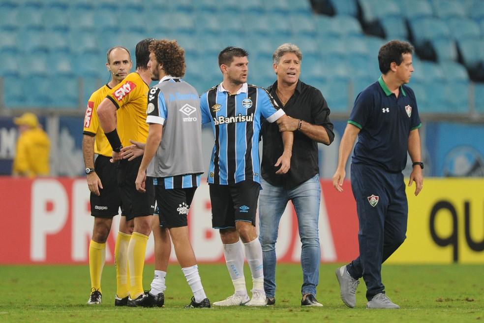 Grêmio Fluminense Kannemann Renato — Foto: Wesley Santos/Agência PressDigital