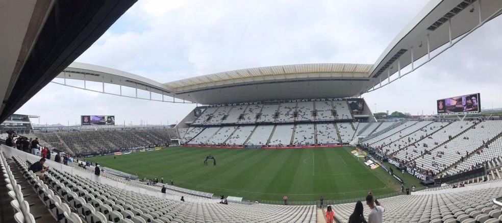 Arena Corinthians recebe o jogo deste sábado — Foto: Bruno Cassucci