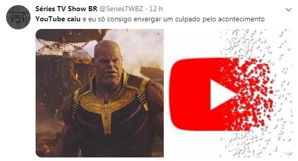 A culpa deve ser do Thanus (Foto: Reprodução / Twitter)