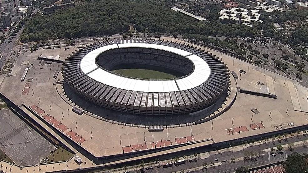 Estádio Mineirão na Região da Pampulha, em Belo Horizonte — Foto: Reprodução/TV Globo