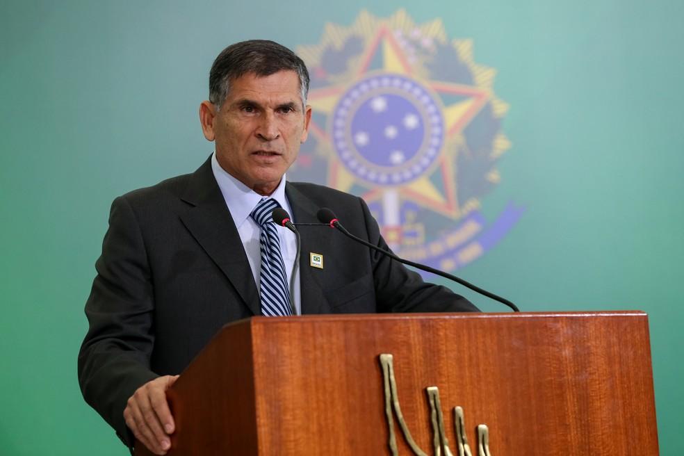 General Carlos Alberto dos Santos Cruz foi demitido da Secretaria de Governo em junho — Foto: Marcos Corrêa/Presidência da República