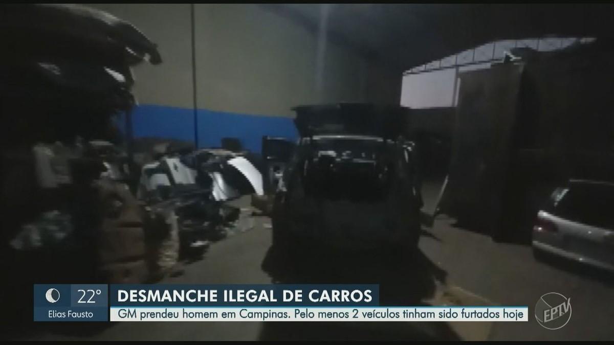 Guarda localiza carro furtado em desmanche irregular e prende suspeito em Campinas