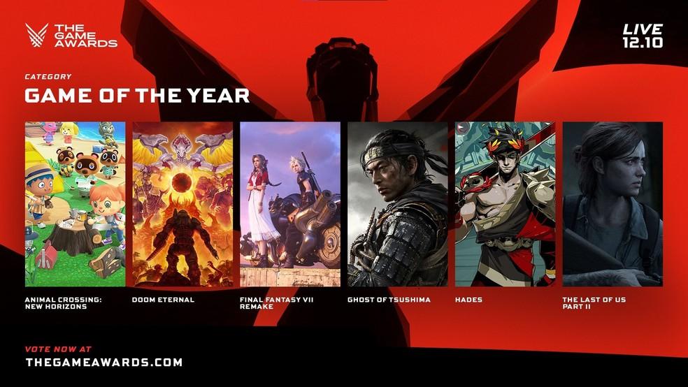 The Game Awards 2020: veja indicados do prêmio que elege o Jogo do Ano |  Eventos | TechTudo