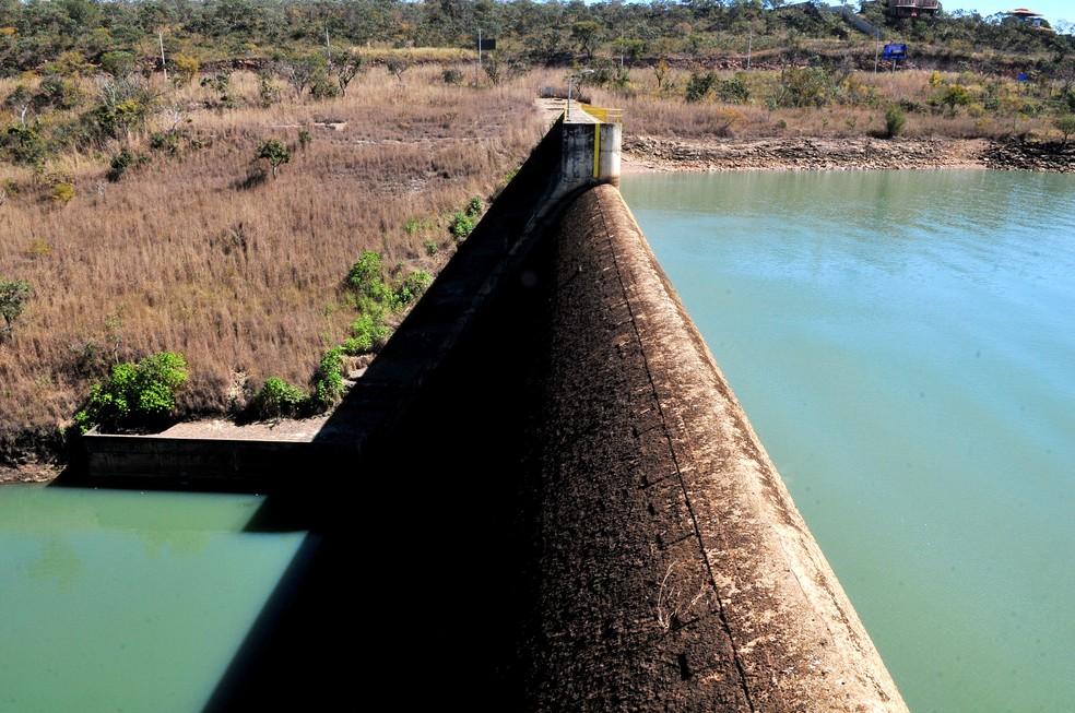 Vista aérea do reservatório do Descoberto (Foto: Tony Winston/GDF/Divulgação)