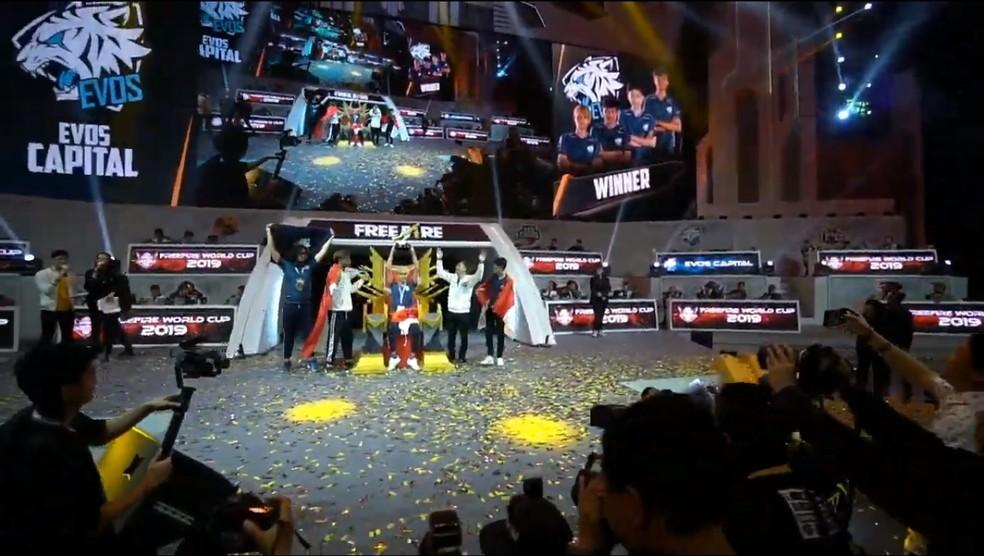 EVOS Capital levou o título da Free Fire World Cup 2019 — Foto: Reprodução/Free Fire