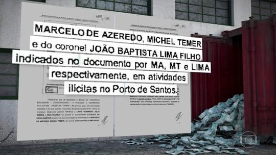 Documento aponta que empresa de coronel Lima intermediava pagamentos ilícitos a Temer na década de 90