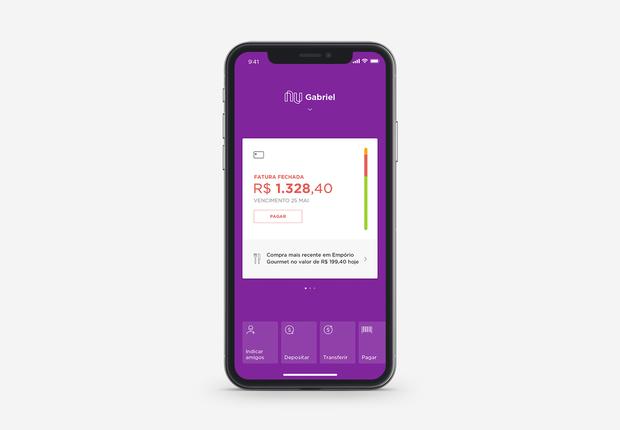 Nova versão do aplicativo do Nubank integra funções de cartão de crédito e conta corrente (Foto: Divulgação)