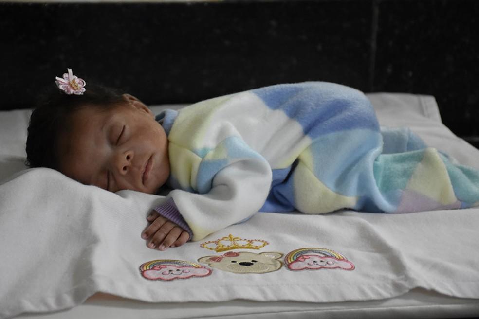 Pequena Helena recebeu alta nesta quinta-feira  — Foto: Divulgação/Unimed Catanduva