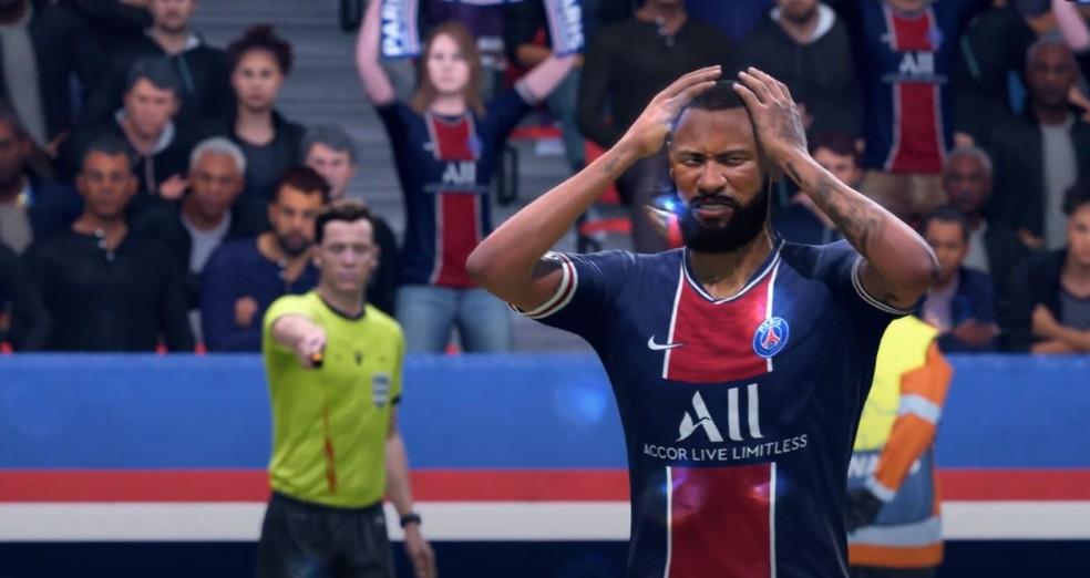 Neymar perdeu ponto de geral e gerou revolta entre fãs no lançamento do FIFA 21 — Foto: Reprodução