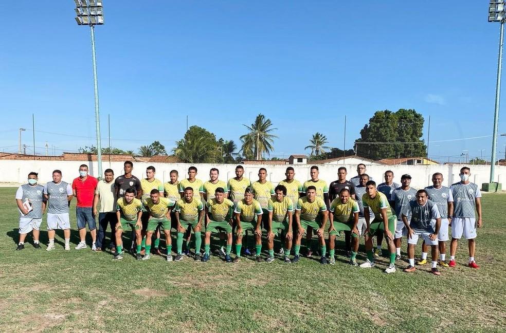Time do Pacajus que vai participar a Taça Fares Lopes de 2020 — Foto: Pacajus EC/Divulgação