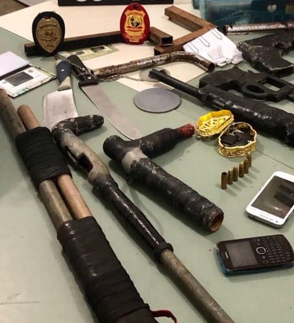 Suspeitos fabricavam armas para facção criminosa. (Foto: SSPDS/Divulgação)