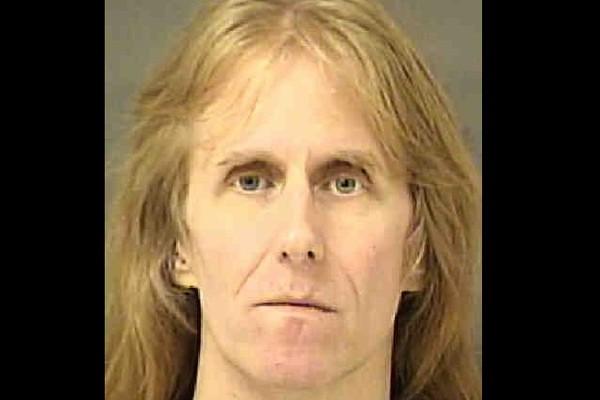 O guitarrista Karl Logan, músico do Manowar, em foto feita pela polícia dos EUA (Foto: Divulgação)