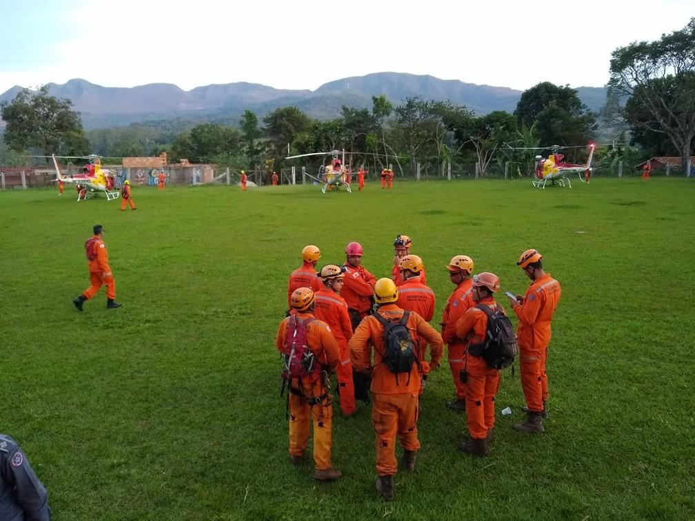 Corpo de Bombeiros em Brumadinho — Foto: Corpo de Bombeiros/Divulgação