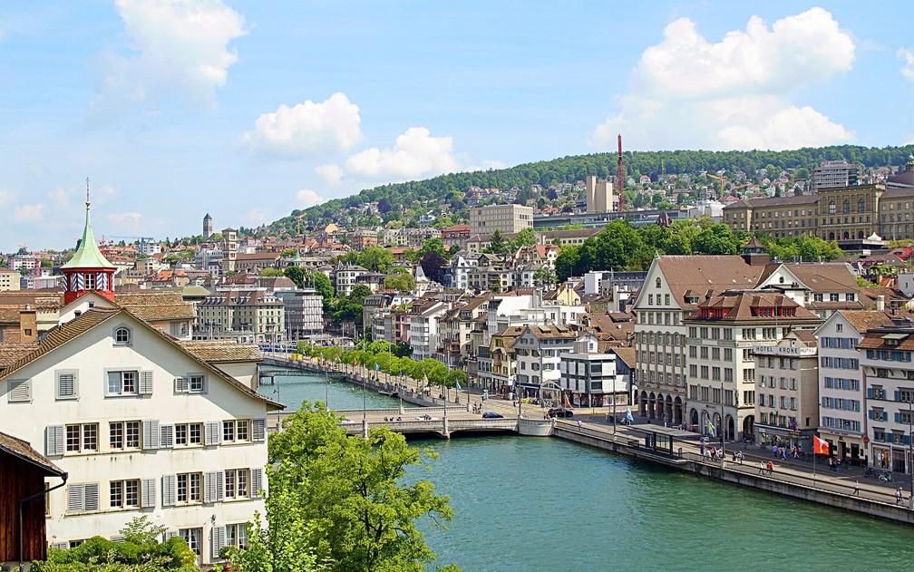O salário médio em Zurique, na Suíça, é de US$ 60 mil (R$ 196,3 mil) por ano, o segundo maior da Europa (Foto: Jonny_Joka/Creative Commons)