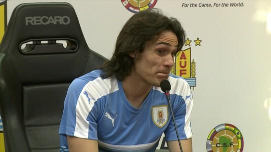 Cavani elogia o Brasil de Tite e diz que sua posição muda com a ausência de Suárez