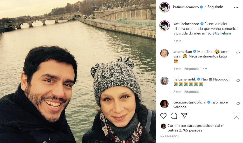Katiuscia Canoro lamenta morte de Caike Luna (Foto: Reprodução/Instagram)