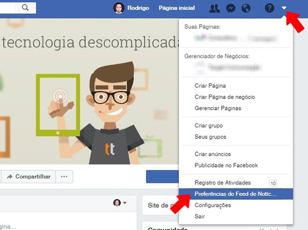 29f29db6c ... Acesse as configurações do Facebook para abrir a Preferências do Feed  de Notícas — Foto
