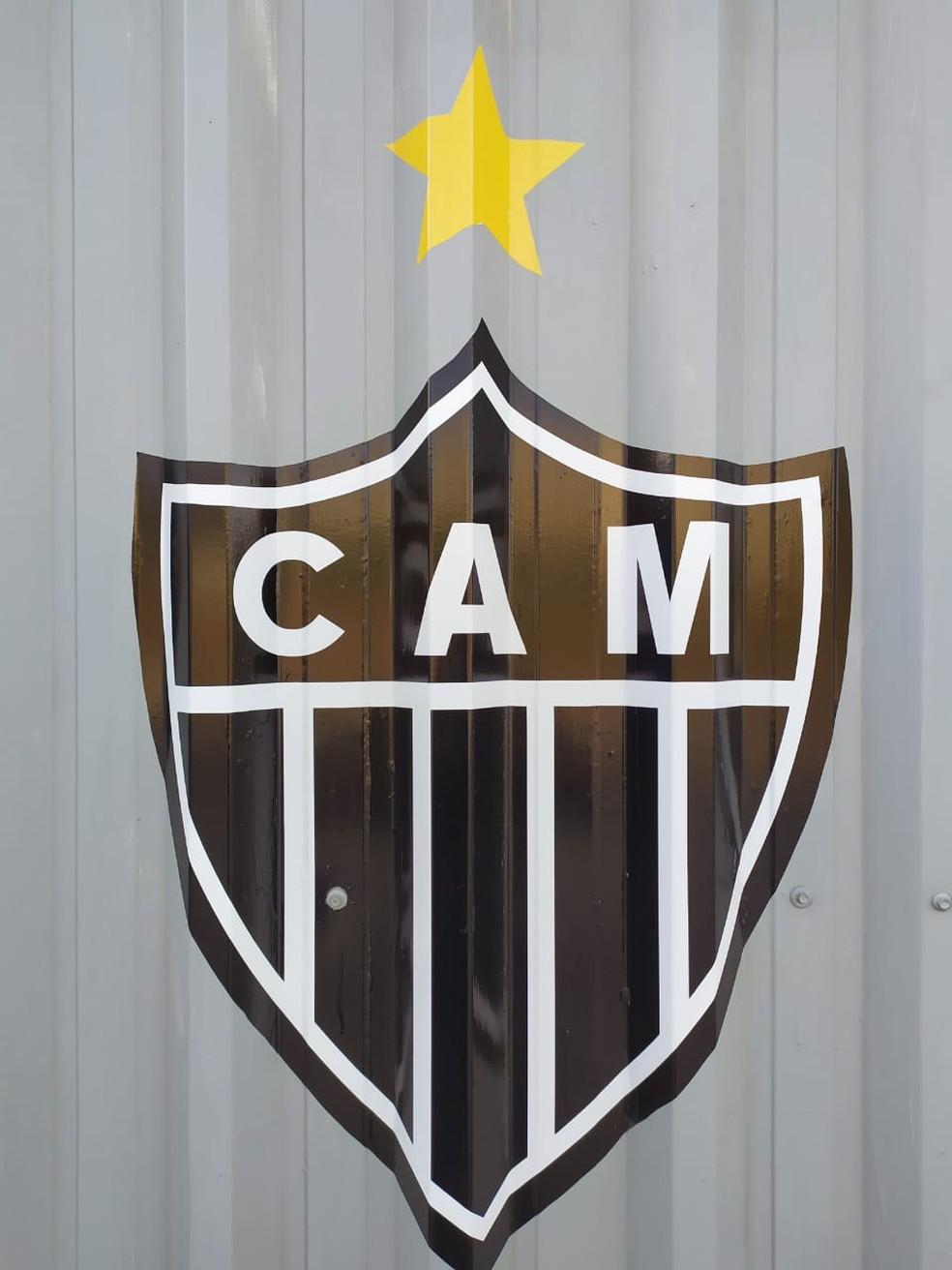 O escudo do Atlético — Foto: Leandro Pacheco / Globo Minas