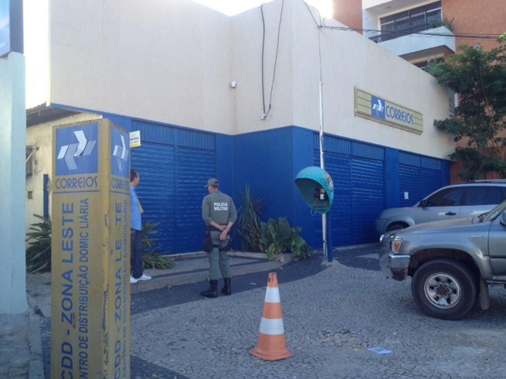 Agência dos Correios da Av.Presidente Kennedy, Zona Leste de Teresina (Foto: Yara Pinho/G1 Piauí)