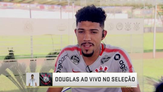 "Douglas analisa momento no Corinthians e projeta semi contra o Flamengo: ""Deixa eles como favoritos"""