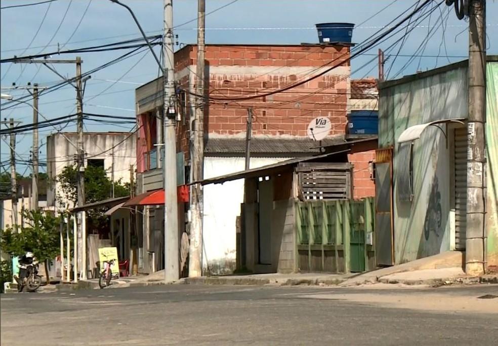 Bairro Santa Cruz, em Linhares, é o mais violento do Espírito Santo — Foto: Reprodução/TV Gazeta