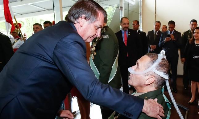 O presidente Jair Bolsonaro e o general Villas Bôas