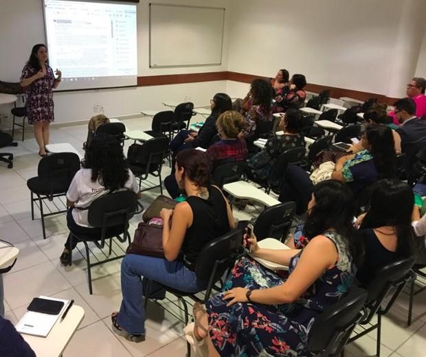 Curso sobre violência obstétrica para juízes em Manaus (Foto: Reprodução / ESMAM / Acyane do Valle)