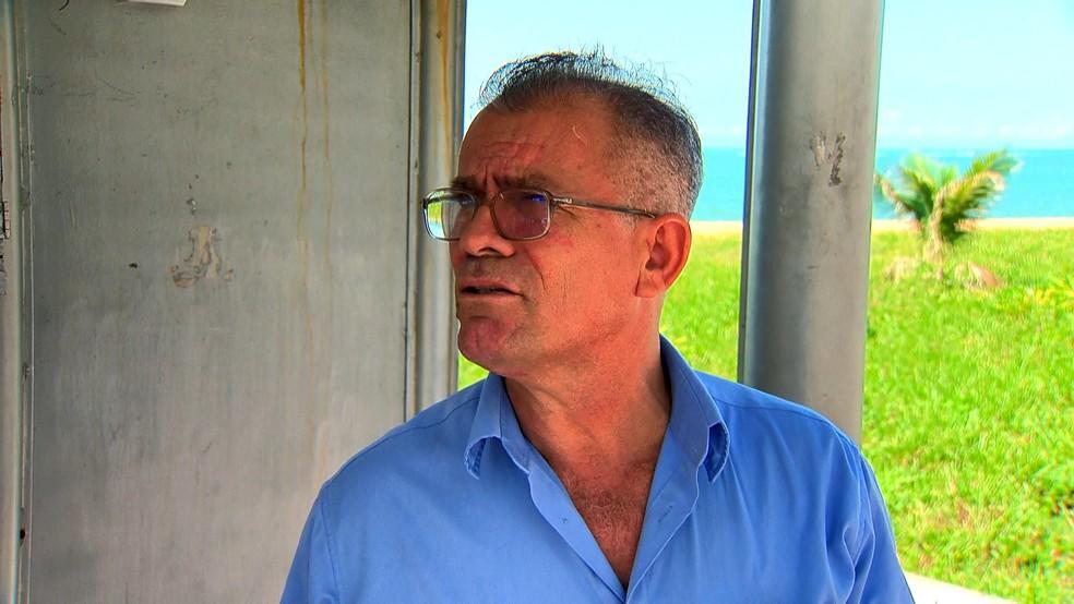 Taxista Júlio Ferreira Sobrinho já foi vítima de criminosos — Foto: Reprodução/TV Gazeta